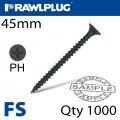 DRYWALL SCREW FINE THREAD 3.5MMX45MM X500-BOX